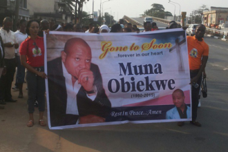 Candle light procession for Late Actor, Muna Obiekwe (PHOTO NEWS)