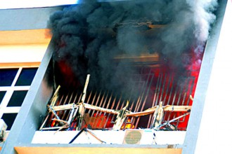 Fire Incident At INEC Office In Abuja