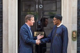 [PHOTO NEWS]'PRIVATE VISIT' turns Official as Buhari meets UK Prime Minister