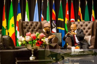 [PHOTO NEWS] President Buhari holds bilateral meeting with other African Leaders in South Africa
