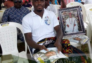 [PHOTO NEWS] Super Eagles Striker Emmanuel Emenike buries his Father today