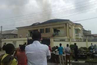 [BREAKING] Kate Henshaw's House On Fire (PHOTOS)