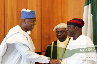 [PHOTO NEWS] 8th National Assembly Inauguration, Senate President Saraki & Hon Dogara