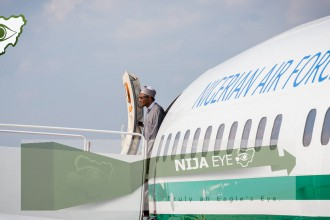 [PHOTO NEWS] President Buhari arrives United States
