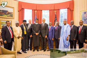 Buhari, and his delegation inside the Oval Office