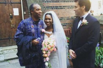 [PHOTO NEWS] Fela's grand daughter Rolari weds UK author