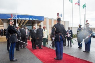[PHOTO NEWS] President Buhari arrives France on his 3-days working visit