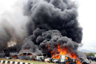 [BREAKING] Massive explosion hits Motor Park in Yola, many dead