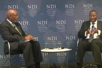 [PHOTO NEWS] Former President Goodluck Jonathan talks about African Politics In Washington DC