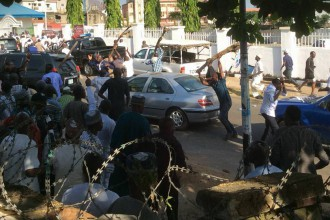 [PHOTO NEWS] Bello, Faleke supporters clash at Kogi state APC secretariat