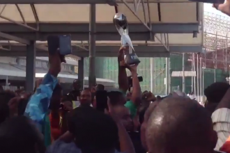 [HAPPENING NOW] Golden Eaglets Arrive Abuja (VIDEO)