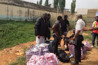 [PHOTO NEWS] First set of Nigerians Deported from United Kingdom Arrives Nigeria,29,000 more awaiting Deportation