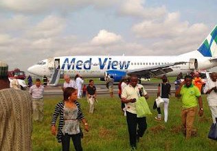 [PHOTO NEWS] Medview aircraft develops fault midair, makes emergency landing