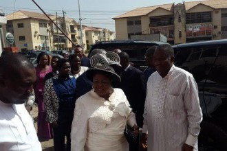 [PHOTO NEWS] Former President Jonathan & wife pictured going to Church