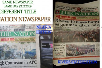 [PHOTOS] APC PROPAGANDA MATERIAL SUPPORTED BY NATION NEWSPAPER IN 2 VERSIONS OF TODAY'S PAPER.