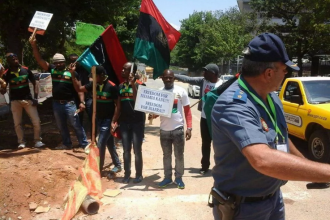 [BIAFRA] IPOB Members Storm China-Africa Summit in South Africa (PHOTOS)