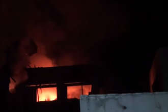[PHOTO NEWS] Wuse market Abuja on fire