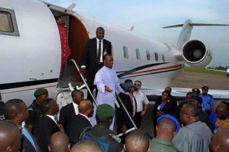 [PHOTO NEWS]Rev.Fr. Mbaka now flies PRIVATE JET