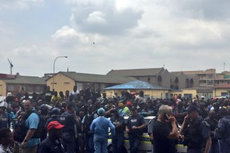 The alleged killing of a 34-year-old man Nigerian man by a police officer has sparked a massive protest in Nigerian community living in Gauteng Province, South Africa.