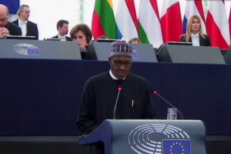 [VIDEO] President Buhari addresses EU Parliament, praises Jonathan