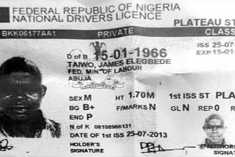 [EXPOSED] Buhari-FRSC Lied, Ocholi's Driver Had A License (PHOTO)