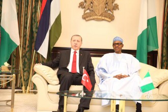 [PHOTO NEWS] Buhari welcomes Turkish President Erodogan in Abuja