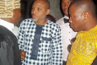 [BREAKING] #IPOB Leader & Director Radio #Biafra KANU appears in Court today 05.04.2016 (PHOTOS)