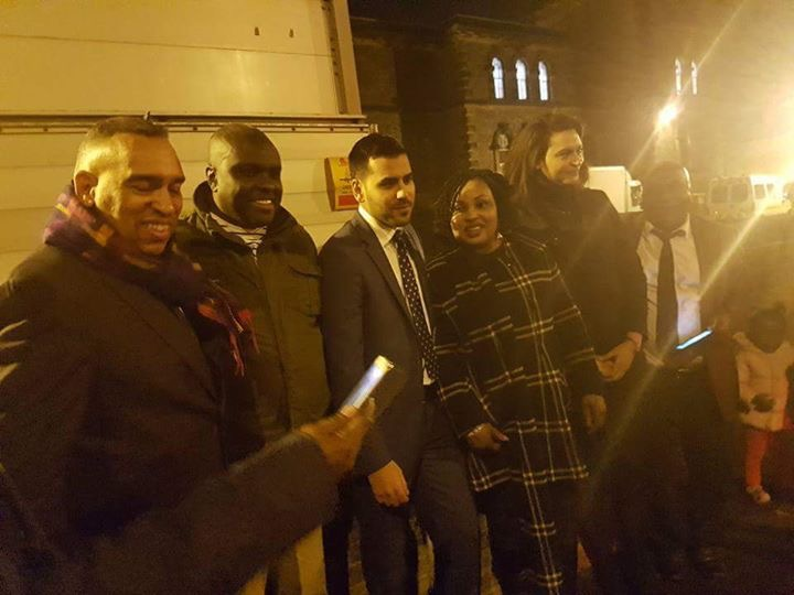 [VIDEO] James Ibori celebrates with friends & Political Allies after release from London Prison