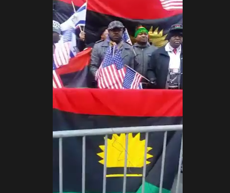 [BREAKING] #IPOB in America holds #RALLY in front of #TRUMP TOWER (VIDEO)