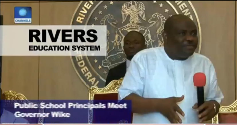 [VIDEO] Gov. Wike starts clean up of Education Ministry,angry over Illegal Levies on Parents