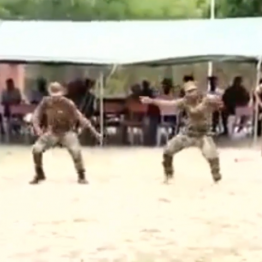 [VIDEO] Nigeria Army Partying in Sambissa Forest instead of fighting Boko Haram, makes Female Officers Dance