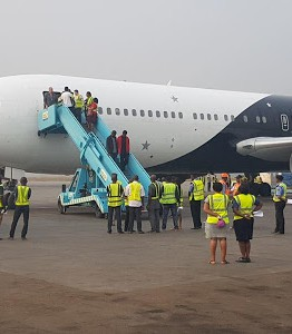 [PHOTO NEWS] 41 Nigerians deported from the UK arrive Lagos Airport