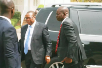 [PHOTOS] The Weeping DG -Suspended NIA boss Ayodele Oke in tears as he is barred from Aso Rock
