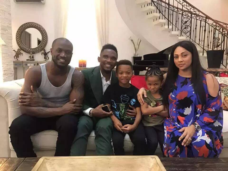 [PHOTO NEWS] Samuel Eto'o visits P-square in Lagos