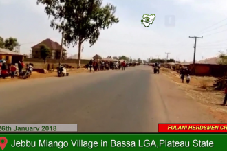 [VIDEO] Fulani Herdsmen invades Jebbu Miango Village in Bassa LGA,Plateau State