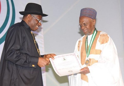 President Jonathan pays tribute to Shagari On 90th Birthday