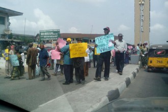 Demonstration By Pensioners in Abia State, not paid for many months(PHOTO NEWS)