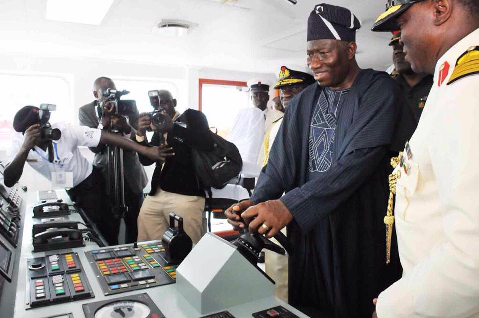 President Jonathan commissions Naval Warships in Lagos (PHOTO NEWS)