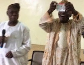 Obasanjo publicly tearing his PDP membership card (PHOTO NEWS)