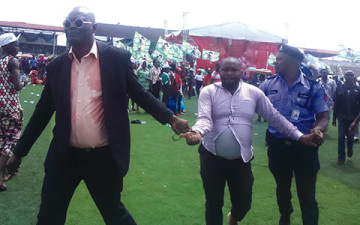 APC hired touts Arrested Attempting To Disrupt First Lady's Visit To Edo (PHOTO)
