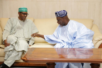 Buhari, Obasanjo Hold Secret Meeting In Lagos