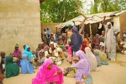 Pictures of the rescued females from Sambisa Forest