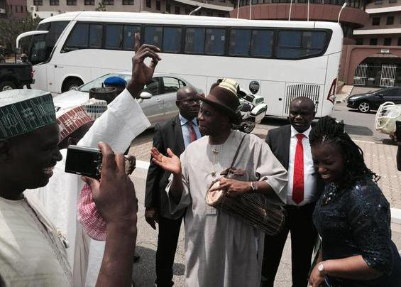 Amaechi conspicously absent at the Rivers State Swearing in Ceremony,spotted in Abuja