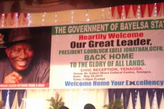 [PHOTO NEWS] Grand Reception for former President Jonathan in Yenagoa