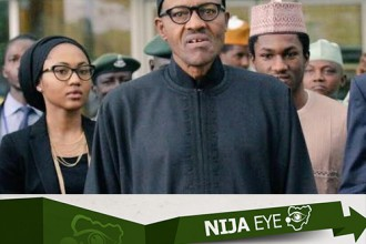 [PHOTO NEWS] Buhari arrives Nigeria with Son & Daughter