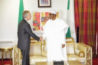 Buhari meets Tony Blair,Former British Prime Minster in Abuja Today