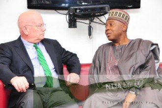 [PHOTO NEWS] U.S Ambassador to Nigeria pays a courtesy visit to Senate President