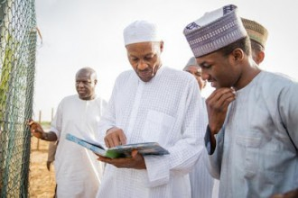 President Buhari shows Son Yusuf his inheritance in Daura Kastina State-The President of the Federal Republic of Nigeria today took Yusuf his son to Daura to show him part of his inheritance.