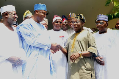 [BREAKING] Senate President Saraki holds secret meeting with Obasanjo (PHOTO NEWS)