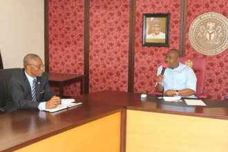 [PHOTO NEWS] UNIPORT Vice Chancellor pays courtesy Visit to GOVERNOR WIKE